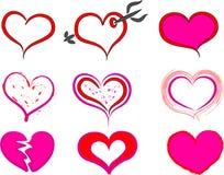 Icona di scarabocchio del cuore Immagine Stock
