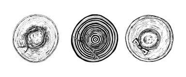 Icona di scarabocchio messa cappelli disegnati a mano Schizzo nero disegnato a mano Segno Ca illustrazione di stock