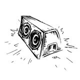 Icona di schizzo del Subwoofer Illustrazione semplice dell'icona del subwoofer per il web Immagine Stock
