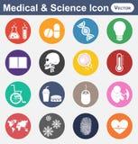 Icona di scienza e medica Fotografie Stock Libere da Diritti