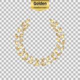 Icona di scintillio dell'oro Fotografia Stock