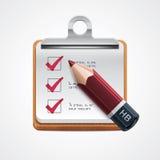 Icona di selezione di opzioni di vettore Fotografia Stock