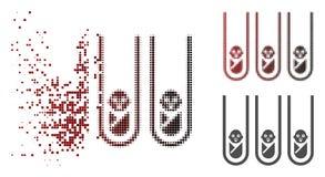 Icona di semitono dispersa dei Prova-tubi della clonazione del bambino di Pixelated royalty illustrazione gratis