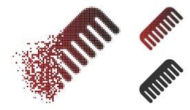 Icona di semitono dissolta del pettine del pixel illustrazione di stock