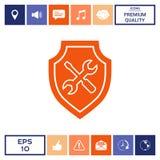 Icona di servizio - schermo con il cacciavite e la chiave Fotografie Stock