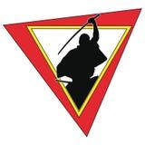Icona di simbol colorata arte marziale. Fotografia Stock Libera da Diritti