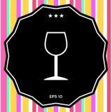 Icona di simbolo del bicchiere di vino Immagini Stock Libere da Diritti