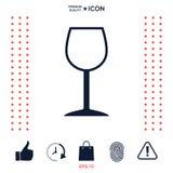Icona di simbolo del bicchiere di vino Immagine Stock Libera da Diritti