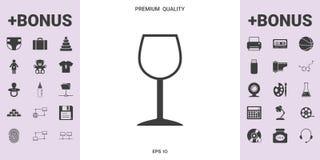 Icona di simbolo del bicchiere di vino - elementi grafici per la vostra progettazione Immagine Stock