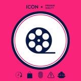 Icona di simbolo del film della bobina Immagini Stock