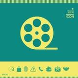 Icona di simbolo del film della bobina Fotografia Stock Libera da Diritti