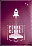 Icona di simbolo dell'astronave Fotografia Stock