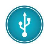 Icona di simbolo della freccia del Usb Fotografia Stock Libera da Diritti