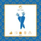 Icona di simbolo delle carote illustrazione di stock