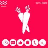 Icona di simbolo delle carote royalty illustrazione gratis