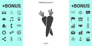 Icona di simbolo delle carote illustrazione vettoriale