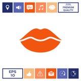 Icona di simbolo delle labbra Immagine Stock