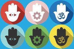 Icona di simbolo di Hamsa Fotografia Stock Libera da Diritti