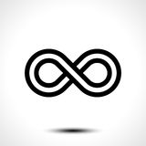 Icona di simbolo di infinito Fotografia Stock Libera da Diritti