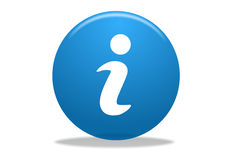 Icona di simbolo di Info Fotografia Stock