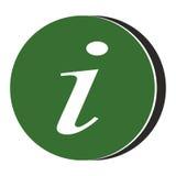 Icona di simbolo di informazioni - verde Fotografia Stock Libera da Diritti