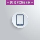 Icona di simbolo di Smartphone su fondo protetto gray Fotografia Stock