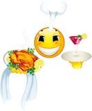 Icona di smiley. Cuoco Immagine Stock
