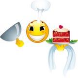 Icona di smiley. Cuoco Fotografie Stock