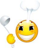 Icona di smiley. Cuoco Fotografia Stock