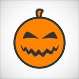 Icona di smiley di colore della zucca di Halloween Fotografia Stock Libera da Diritti