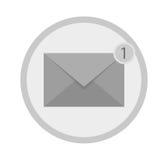 Icona di Sms Lettera con la notifica d'angolo Fotografie Stock