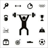 Icona di sollevamento pesi Insieme dettagliato delle icone di sport Segno premio di progettazione grafica di qualità Una delle ic Fotografia Stock