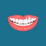 Icona di sorriso del dentista Fotografia Stock Libera da Diritti