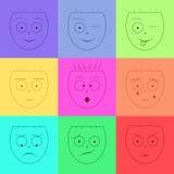 Icona di sorriso di vettore Immagini Stock
