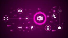 icona di sottoscrizione Dall'introduzione sul mercato di Digital, insieme di promozione royalty illustrazione gratis