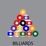 Icona di sport del biliardo piana Fotografie Stock Libere da Diritti