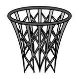Icona di sport del canestro di pallacanestro illustrazione di stock