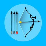 Icona di sport dell'attrezzatura della freccia di tiro con l'arco royalty illustrazione gratis