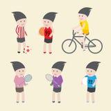 Icona di sport e progettazione di carattere Fotografie Stock
