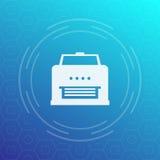 Icona di stampante, pittogramma di vettore illustrazione vettoriale
