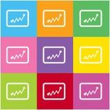 Icona di statistiche per il web ed il cellulare Fotografia Stock
