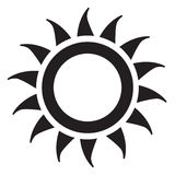 Icona di Sun Immagini Stock