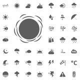 Icona di Sun, sole di autunno Icone di vettore del tempo messe Immagine Stock
