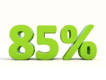 icona di tasso percentuale di 85% su un fondo bianco Fotografie Stock Libere da Diritti