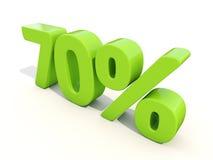 icona di tasso percentuale di 70% su un fondo bianco Fotografie Stock Libere da Diritti