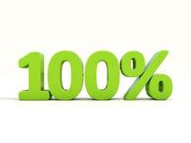 icona di tasso percentuale di 100% su un fondo bianco Immagini Stock