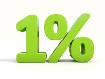 icona di tasso percentuale di 1% su un fondo bianco Fotografia Stock