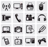 Icona di tecnologia Fotografia Stock