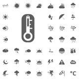 Icona di temperatura Icone di vettore del tempo messe Fotografia Stock Libera da Diritti