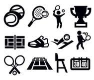 Icona di tennis Immagine Stock